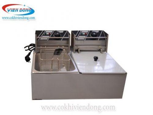 Bếp chiên nhúng điện đôi ZL82