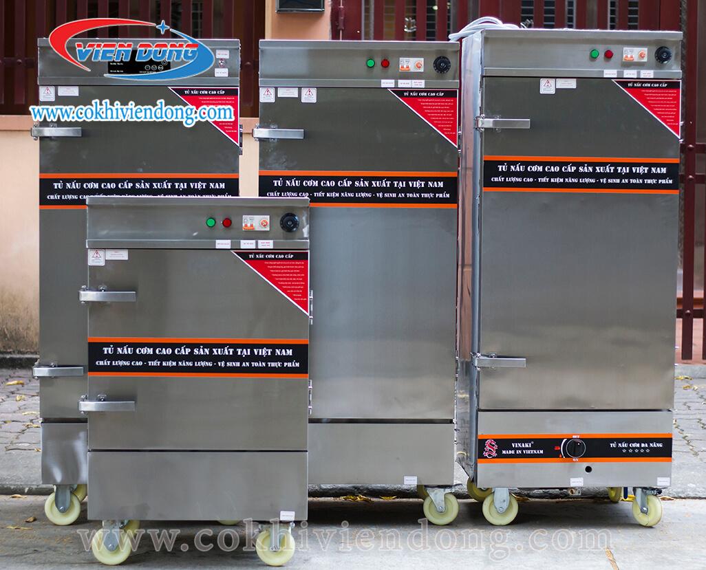 Tủ hấp cơm công nghiệp bằng gas 10 khay