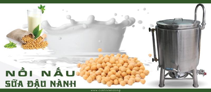 Nồi nấu sữa đậu nành công nghiệp