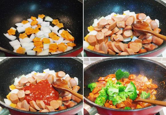 Món ăn với xúc xích