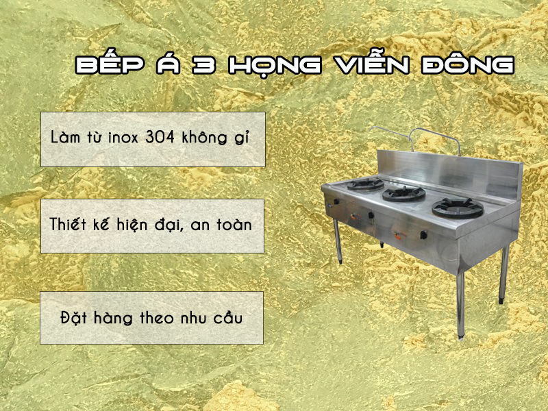 bếp Á 3 họng
