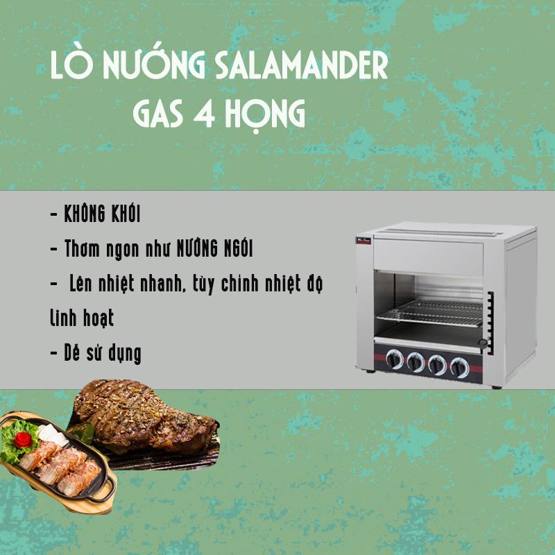 lò nướng Salamander gas 4 họng