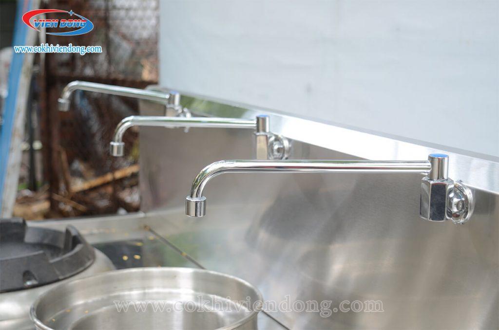 hệ thống vòi xả bếp á 2 họng gang