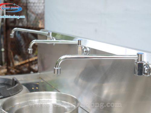 Bếp Á 2 họng gang 1 bầu nước cao cấp (có quạt)
