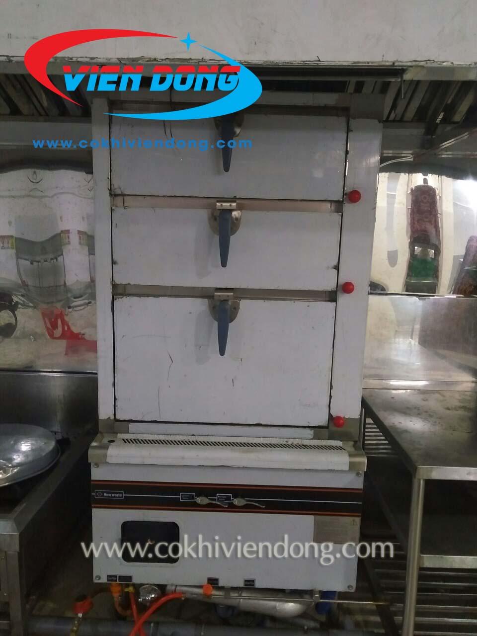 Tủ hấp hải sản 3 tầng dùng điện