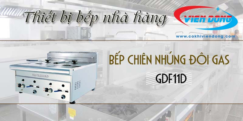 Bếp chiên nhúng đôi dùng gas GDF11D
