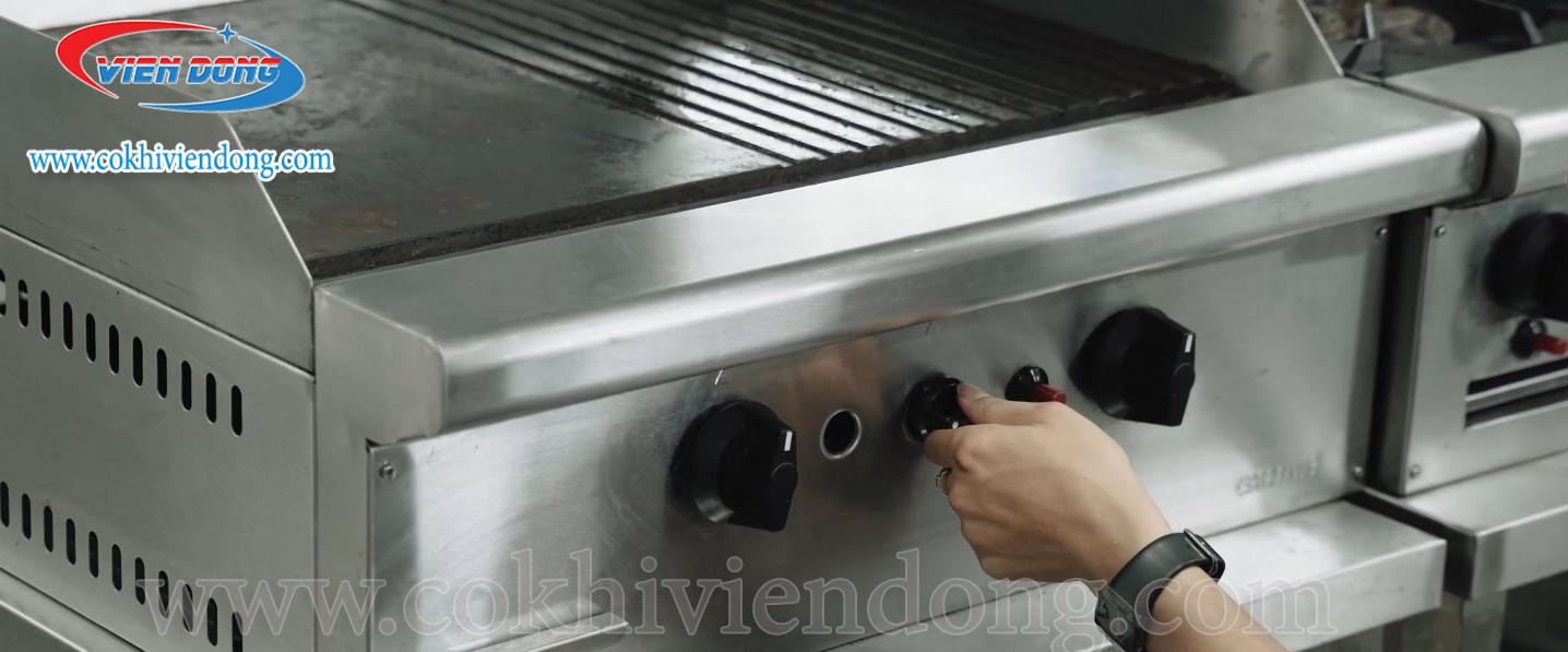 Bếp chiên phẳng dùng gas