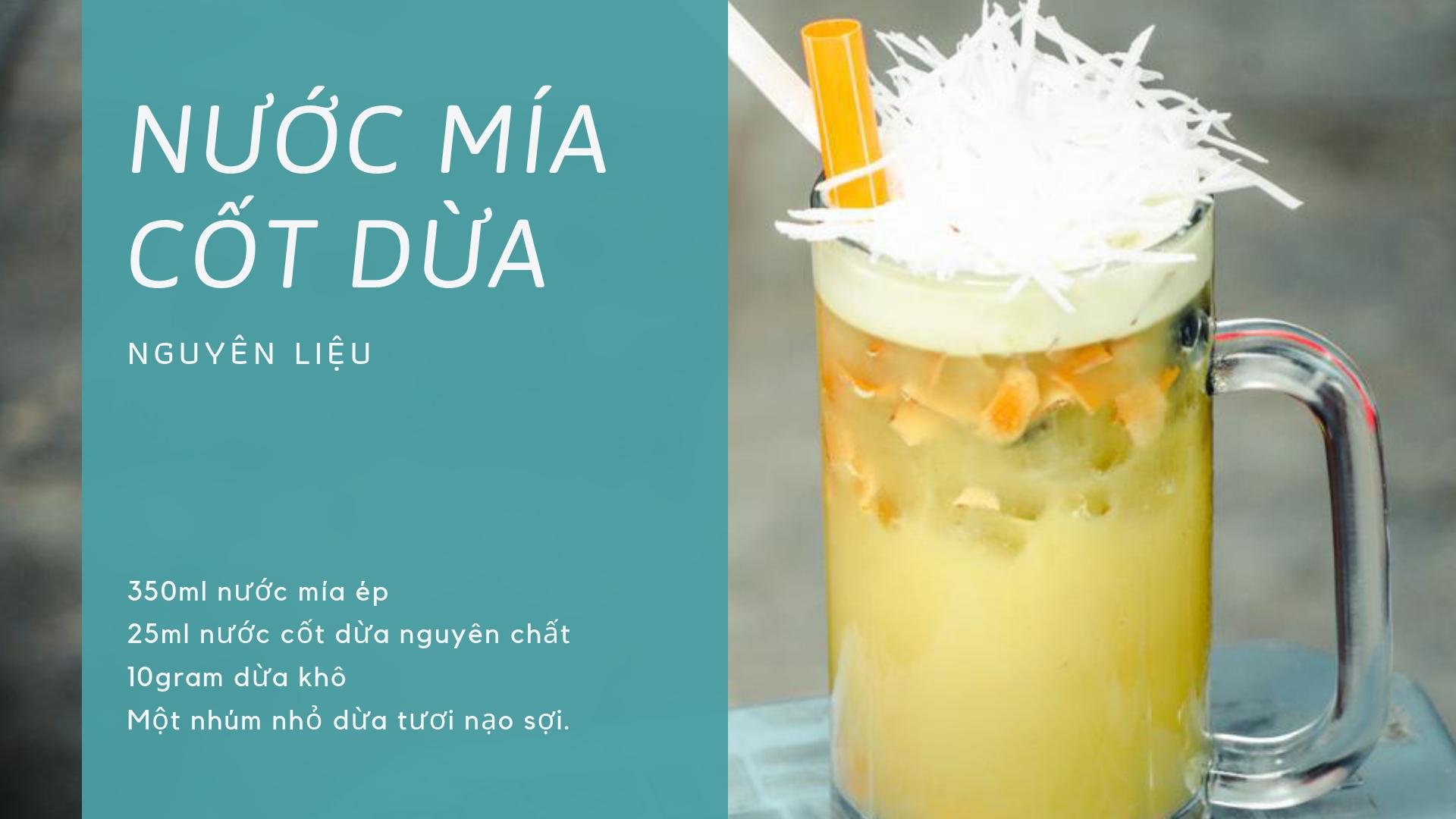 nước mía cốt dừa