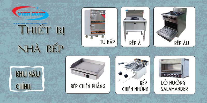 hệ thống bếp nhà hàng khu nấu chính