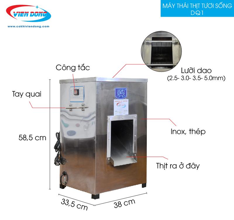 Chất liệu Inox của máy