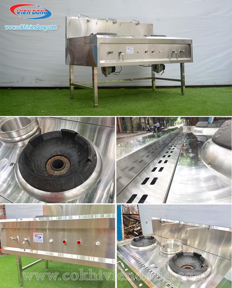 Bếp á kiềng vuông công nghiệp Việt Nam và chất liệu inox riêng biệt