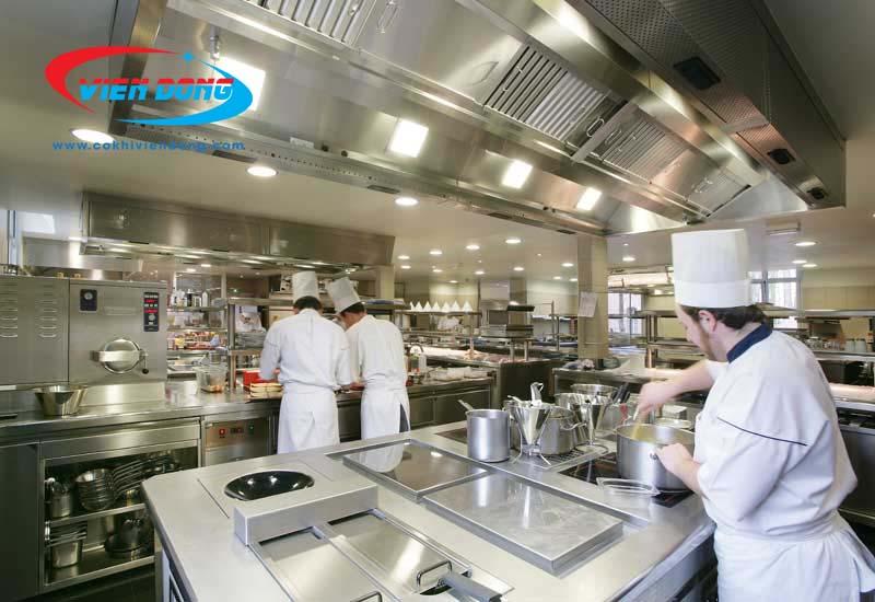 thiết kế 3D bếp nhà hàng