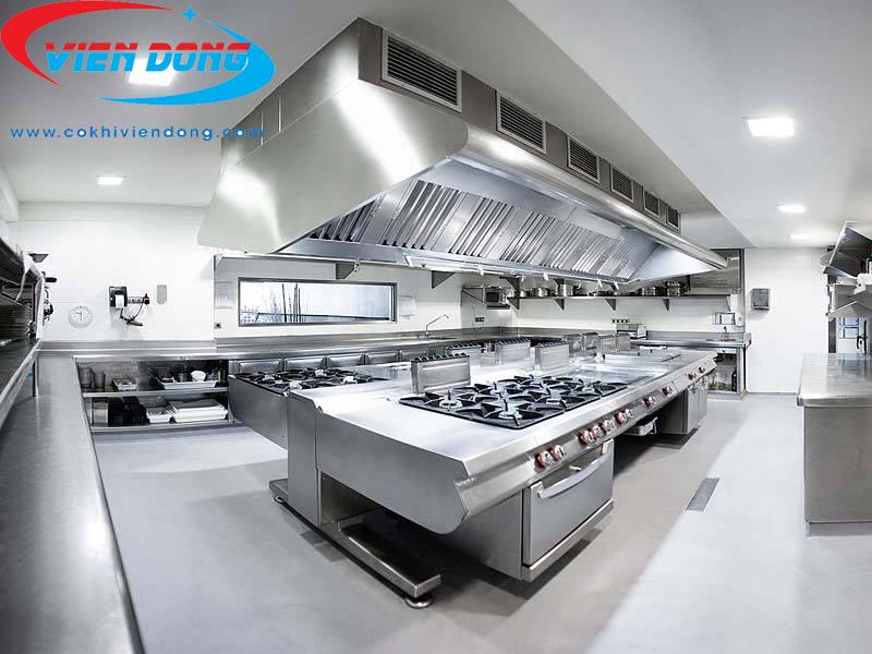 Bếp công nghiệp thiết kế theo chất liệu Inox