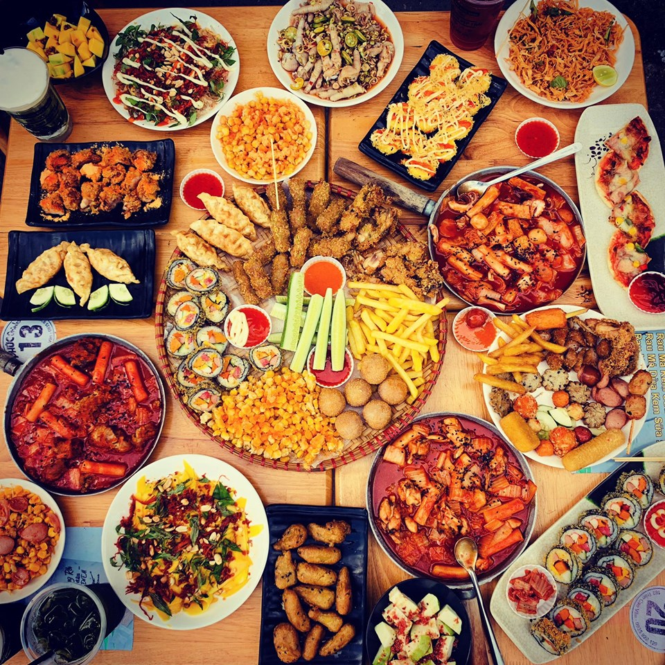 đa dạng món ăn