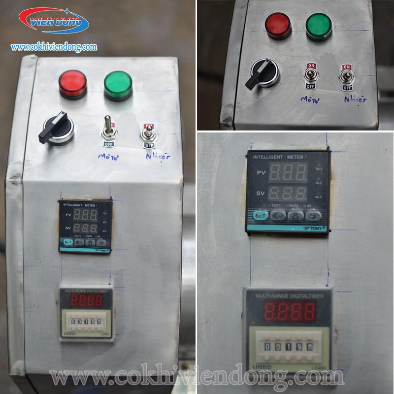 máy rang chà bông điện